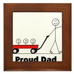 Proud Dad 3 kids Framed Tile