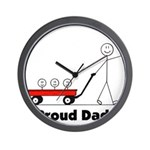 Proud Dad 3 kids Wall Clock