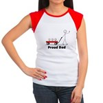 Proud Dad 3 kids Women's Cap Sleeve T-Shirt