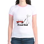 Proud Dad 3 kids Jr. Ringer T-Shirt