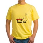 Proud Dad 3 kids Yellow T-Shirt