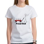 Proud Dad 3 kids Women's T-Shirt