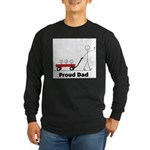 Proud Dad 3 kids Long Sleeve Dark T-Shirt