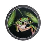 Fun Frog #3 Wall Clock