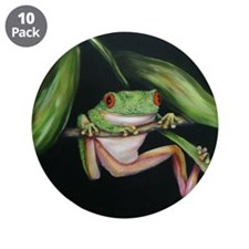 "Fun Frog #3 3.5"" Button (10 pack)"