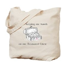 Treasured Chest Pink Ribbon Tote Bag