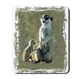 MEERKAT MOM AND PUP Mousepad