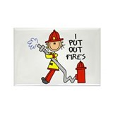 I Put Out Fires Rectangle Magnet