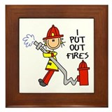I Put Out Fires Framed Tile