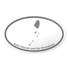 St Vincent & the Grenadines Outline Decal
