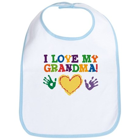I Love My Grandma Bib