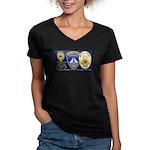 Compton PD History Women's V-Neck Dark T-Shirt