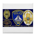 Compton PD History Tile Coaster