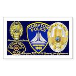 Compton PD History Rectangle Sticker