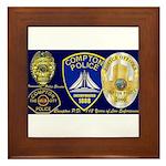 Compton PD History Framed Tile
