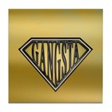 SuperGangsta(b/g) Tile Coaster
