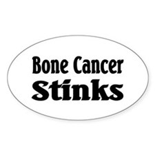 Bone Cancer Oval Sticker (10 pk)