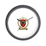 DENIS Family Crest Wall Clock