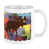 Colorful Moose Coffee Mug