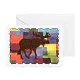Colorful Moose Greeting Card