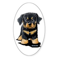 Rottweiler Puppy Oval Sticker (50 pk)