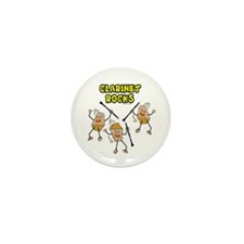 Clarinet Rocks Mini Button (10 pack)