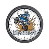 Eat, Sleep, Ride Motocross Wall Clock