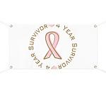 4 Year Breast Cancer Survivor Banner