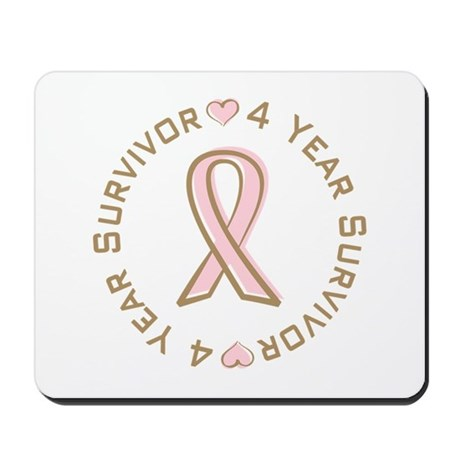 4 Year Breast Cancer Survivor Mousepad