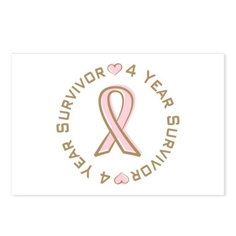 4 Year Breast Cancer Survivor Postcards (Package o