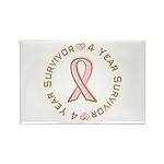 4 Year Breast Cancer Survivor Rectangle Magnet (10