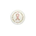 5 Year Breast Cancer Survivor Mini Button