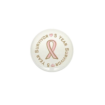 5 Year Breast Cancer Survivor Mini Button (10 pack