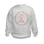 6 Year Breast Cancer Survivor Kids Sweatshirt