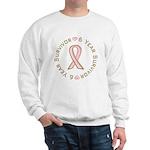 6 Year Breast Cancer Survivor Sweatshirt