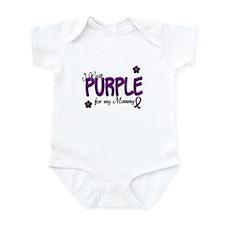 I Wear Purple For My Mommy 14 Infant Bodysuit