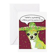 Killer Chihuahua Greeting Cards (Pk of 10)