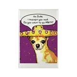 Party Chihuahua Rectangle Magnet