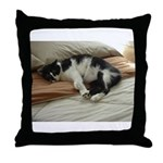 Tuxedo Cat Throw Pillow