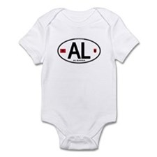 Albania Euro Oval Infant Bodysuit