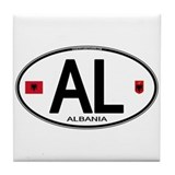 Albania Euro Oval Tile Coaster