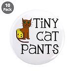 "Tiny Cat Pants 3.5"" Button (10 pack)"