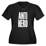 Anti Hero Women's Plus Size V-Neck Dark T-Shirt