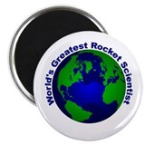 "World's Greatest Rocket Scien 2.25"" Magnet (100 pa"