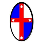 Lochac Populace Oval Sticker (10 pk)