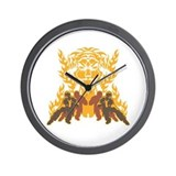 Tiger Kung Fu Wall Clock