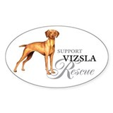 Vizsla Rescue Oval Decal