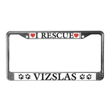 Vizsla Rescue License Plate Frame