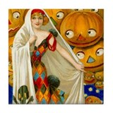 Halloween White Witch Tile Coaster