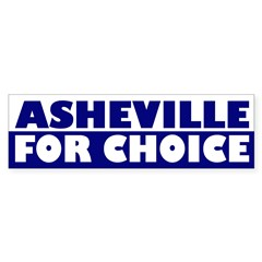 Asheville for Choice (bumper sticker)